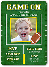Game On Party Birthday Invitation 5x7 Flat