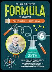 perfect formula birthday invitation 5x7 flat