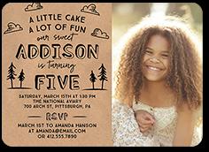 cake and fun birthday invitation 5x7 flat