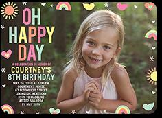 pastel happy day birthday invitation 5x7 flat