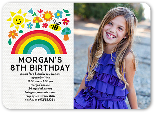 Joyous Celebration Birthday Invitation, Rounded Corners