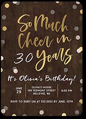 confetti celebration birthday invitation