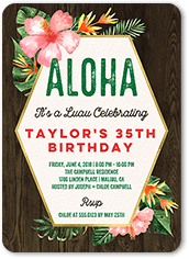 Aloha Party Birthday Invitation