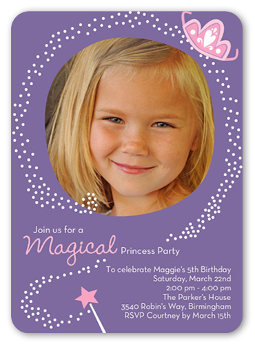 Magical Princess Birthday Invitation, Rounded Corners