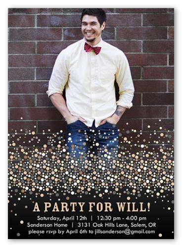Confetti Champagne Birthday Invitation