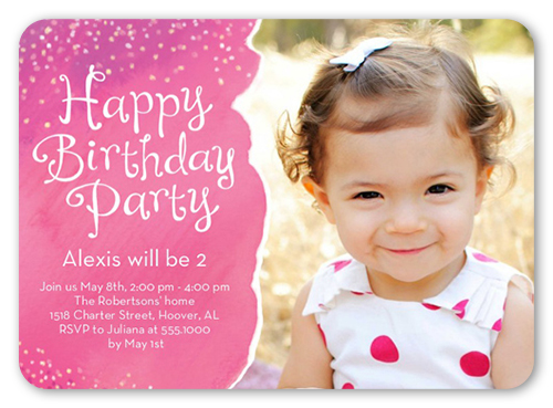 Girl First Birthday Invitations St Birthday Invites Shutterfly - Happy birthday invitation card design