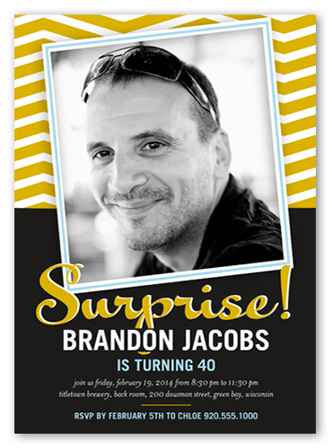 Surprise Frame Surprise Birthday Invitation Shutterfly