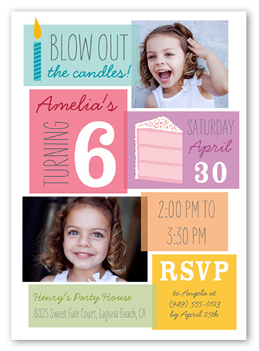 Birthday Blowout Girl Birthday Invitation