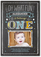 Baby boys first birthday invitations birthday invitations birthday invitation from 127 oh what fun boy filmwisefo Image collections