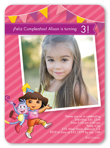 Party Perfect Dora Birthday Invitation