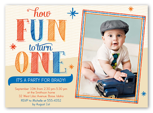 Fun Sketch 5x7 Boy Birthday Invitations Card by Brejer Shutterfly