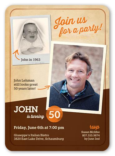 Nostalgic Frames Birthday Invitation by Paper Plains