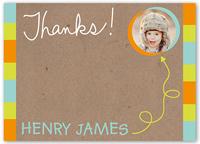 crafty scribbles boy thank you card 5x7 flat