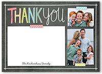 colorful notes thank you card 5x7 flat