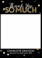 spectacular confetti thanks thank you card 5x7 flat