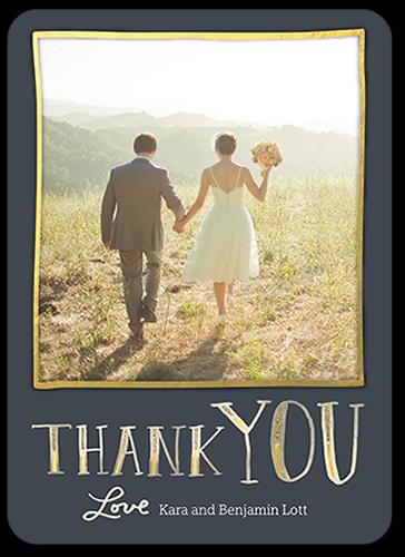 Gilded Border Thank You Card