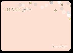 fanciful bokeh thank you card 5x7 flat