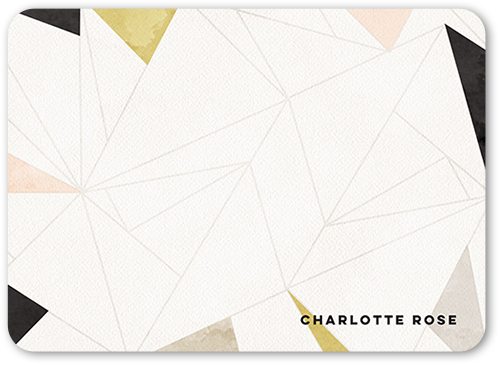 geometric elegance 5x7 stationery card by Éclair paper company