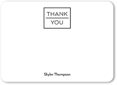 block of thanks thank you card 5x7 flat