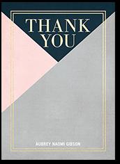 modern color block thank you card 5x7 flat