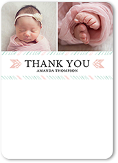 superb wishes girl thank you card 5x7 flat