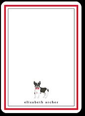 boston dog love thank you card