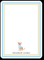 chihuahua dog love thank you card