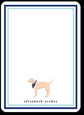 retriever dog love thank you card