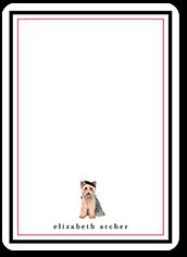 yorkie dog love thank you card