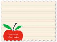 adoring apple thank you card 5x7 flat