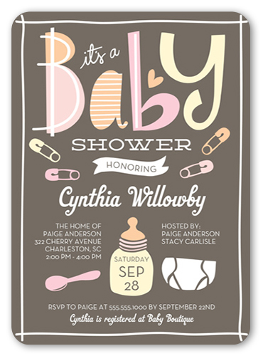 itu0027s a baby girl baby shower invitation