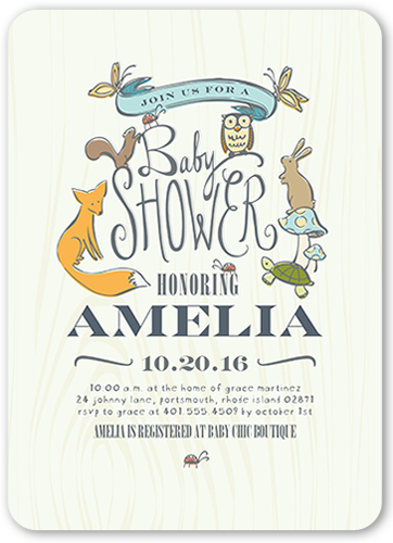 Woodsy Shower 5x7 Gender Neutral Baby Shower Invitations Shutterfly