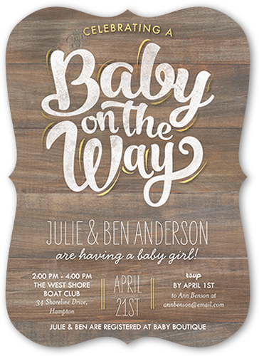 Baby On The Way Baby Shower Invitation