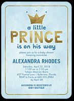 newborn prince baby shower invitation 5x7 flat