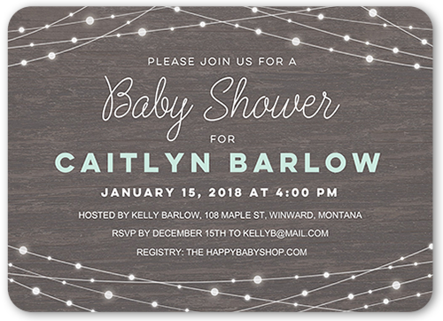 Strung Lights Baby Shower Invitations