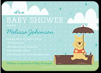 disney winnie the pooh shower baby shower invitation 5x7 flat