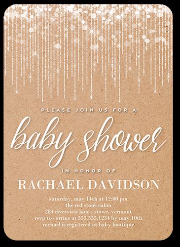 String Lights Kraft Baby Shower Invitation By Poppy