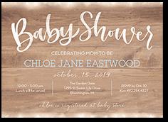 beaming celebration boy baby shower invitation