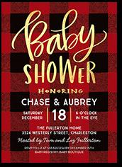 buffalo baby baby shower invitation