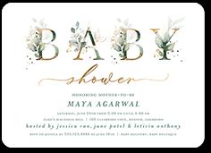 watercolor wonder baby shower invitation