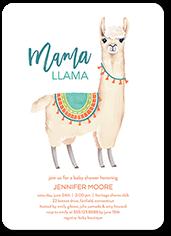 mama llama baby shower invitation