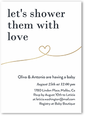 shower them with love baby shower invitation
