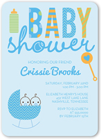 cute cradle boys baby shower invitation 5x7 flat