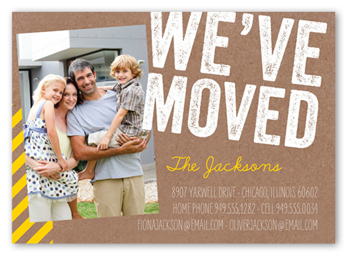 we 39 ve moved stamp 5x7 moving announcements shutterfly. Black Bedroom Furniture Sets. Home Design Ideas