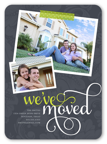 Moving Snapshots Moving Announcement, Rounded Corners