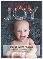 simply joyful birth announcement 5x7 flat