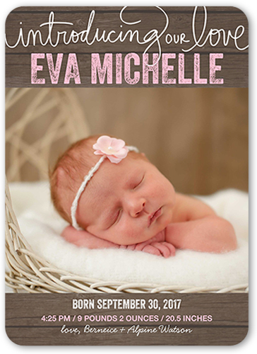 Lovely Addition Girl Birth Announcement