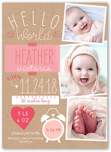 Newest Arrival Girl Birth Announcement