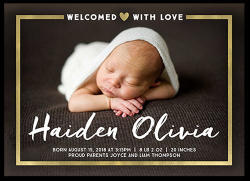 Announcements Custom Announcement Cards – High End Birth Announcements