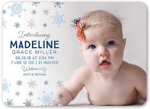 Falling Flakes Birth Announcement